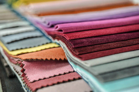 Variety of fabrics and colour