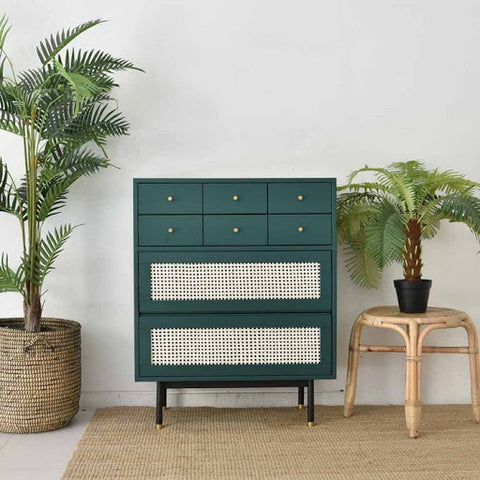 Born In Colour Bistro Rattan Collection, featuring the Bistro Rattan Chest of Drawers
