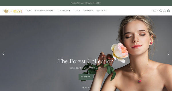 Weavve Home Forest Jewelry Site