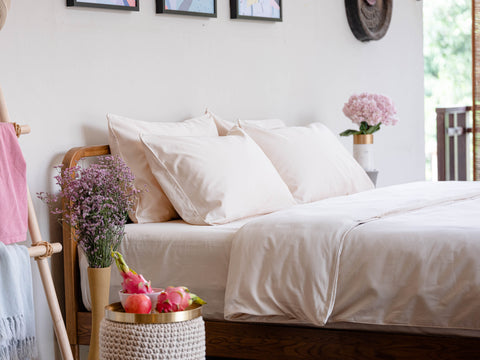 Weavve Home High Thread Count Cotton Sateen Bed Sheets Singapore