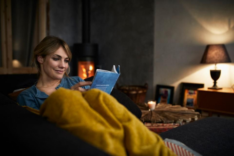 Unwind after work before sleep. The blue light emitted from electronics can interrupt the release of melatonin, causing you to stay awake. Swap out your phone for a good book or listen to a podcast as you begin to relax.