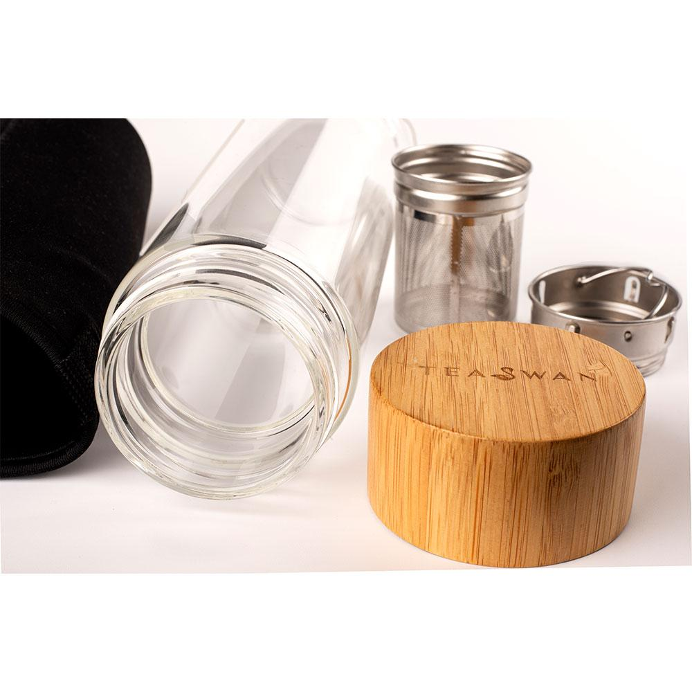 450ml Clear Glass Bottle Infuser - Shop-Teas-Online-TeaSwan