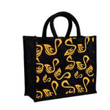Black Jute Bag - Shop-Teas-Online-TeaSwan