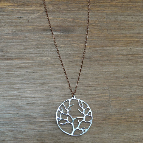 Tree of Life Pendant on Copper Chain