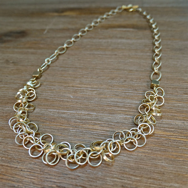 Gold-plated Circle Cha-Cha Necklace