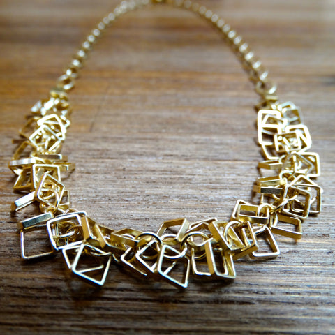 Gold-plated Square Cha-Cha Necklace