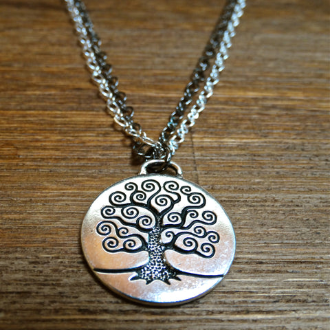 Tree of Life Pendant with Double Chain