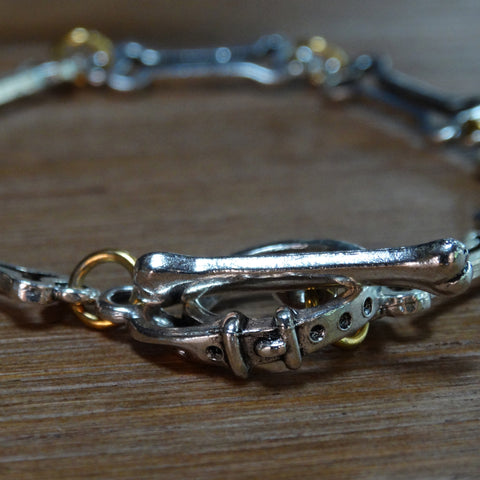 Dog Bone Outline Bracelet with Collar Clasp
