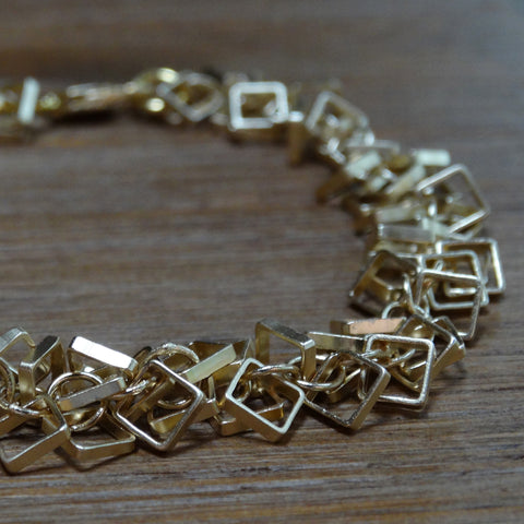 Gold-plated Square Cha-Cha Bracelet