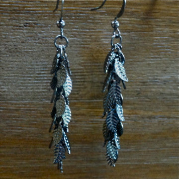 Gunmetal Leaf Cha-Cha Earrings