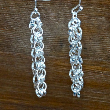 Silver-plated Circle Cha-Cha Earring