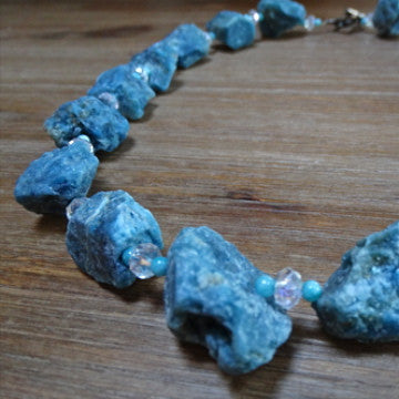 Apatite Rough-Cut Nugget Necklace