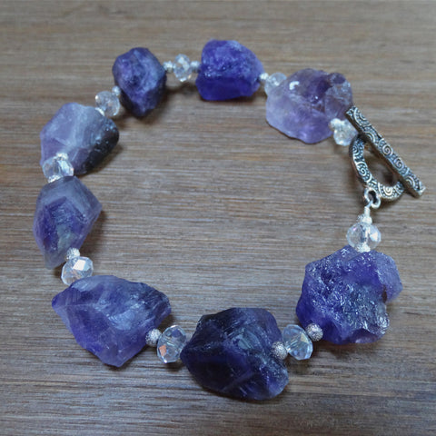 Amethyst Rough-Cut Bracelet