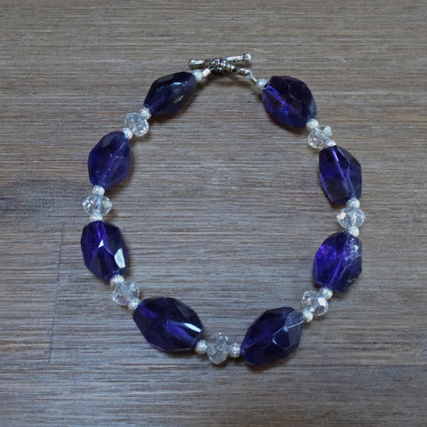 Amethyst Polished Nugget Bracelet