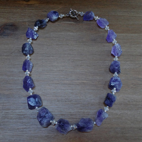 Amethyst Rough-Cut Nugget Necklace