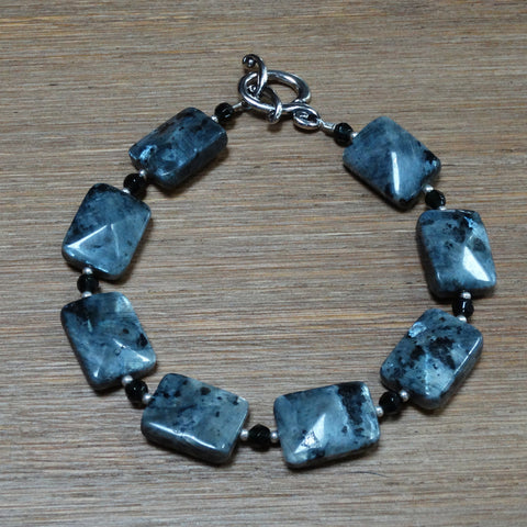 Black Labradorite Rectangle Bracelet