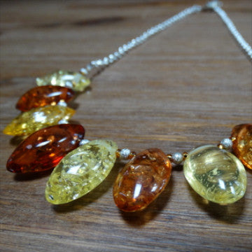 Amber Petal Necklace