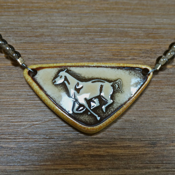 Simple Running Horse Necklace