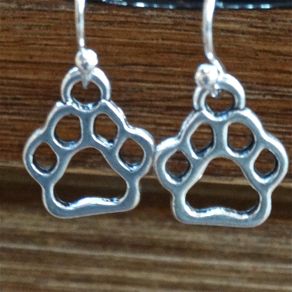Paw Print Outline Earring