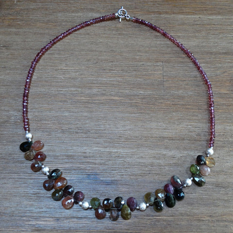 Tourmaline Faceted Teardrop Necklace