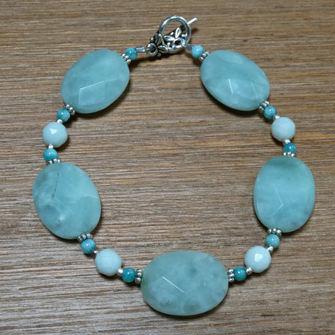 Amazonite Faceted Oval Bracelet