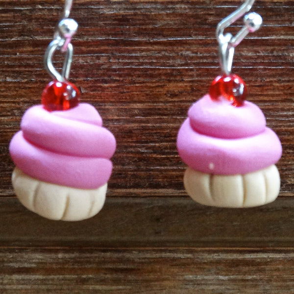 Cupcake Earrings Small Light Pink