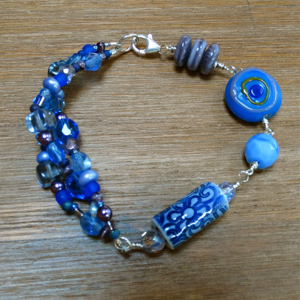 Blue and Purple Party Bracelet