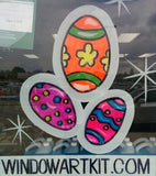 EASTER Window Art Kit,  Commmercial