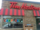 Tim Horton's Camp Day window art kit