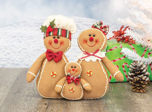 Snow Muffin Gingerbread Family Tabletop