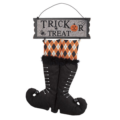 Witch Boots Wall Hanger: 13 x 19.5 inches