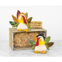 Feathered Turkey Tabletop- Orange Hat