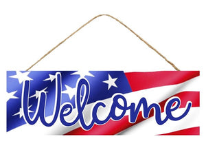 "15""L X 5""H WELCOME/FLAG SIGN"