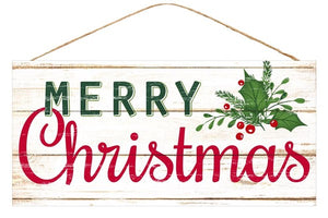 "12. 5""Lx6""W Merry Christmas Sign"