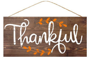 "12. 5""LX6""W THANKFUL SIGN"
