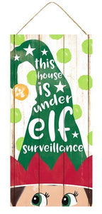 "12. 5""H X 6""L ELF SURVEILLANCE ELF HAT SIGN"