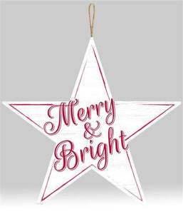 "12""DIA MERRY AND BRIGHT SIGN"