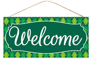 "12. 5""L X 6""H Welcome- St. Patricks sign"