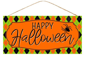"12. 5""L X 6""H Happy Halloween Sign"