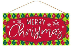 "12. 5""L X 6""H MERRY CHRISTMAS SIGN"