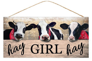 "12. 5""L X 6""H Hay Girl Hay Sign"