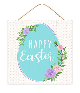 "10""Sq Happy Easter/Egg Sign"