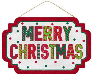 "12. 5""L X 8""H MERRY CHRISTMAS SIGN"