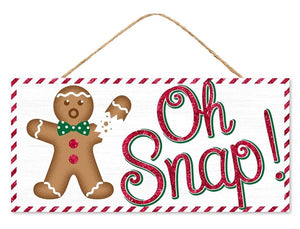 "12.5""L X 6""H ""Oh Snap"" Glitter Sign"