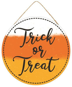 "10. 5""DIA TRICK OR TREAT SIGN"