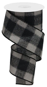 "2.5""x10YD FUZZY BLACK/GREY CHECK"