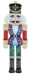 "12""H X 4""L Metal Embossed Nutcracker"