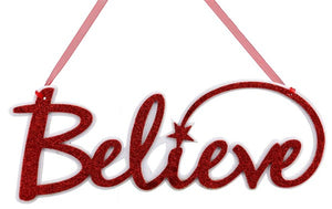 "14.5""L ""Believe"" Word Sign"