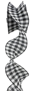 "3""X5yd Pleated Plaid/Check Ribbon"