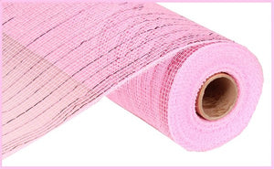 "10""X10yd Metallic Mesh- Light Pink"
